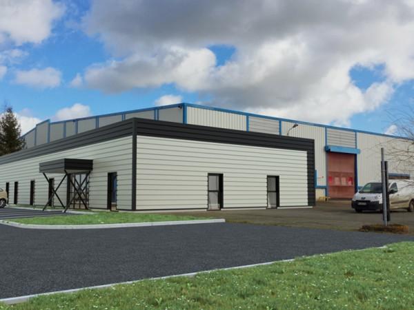Insertion dans le paysage - Extension d'un bâtiment d'activité, création de bureaux