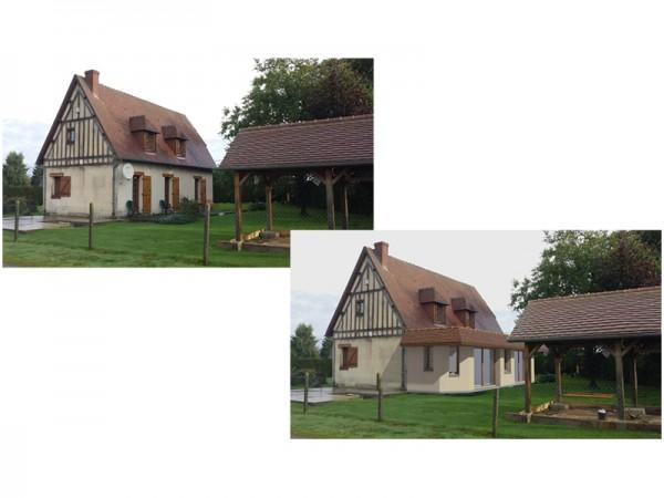 Insertion dans le paysage - extension du séjour - 20 m²