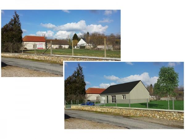Insertion dans le paysage - 80 m²
