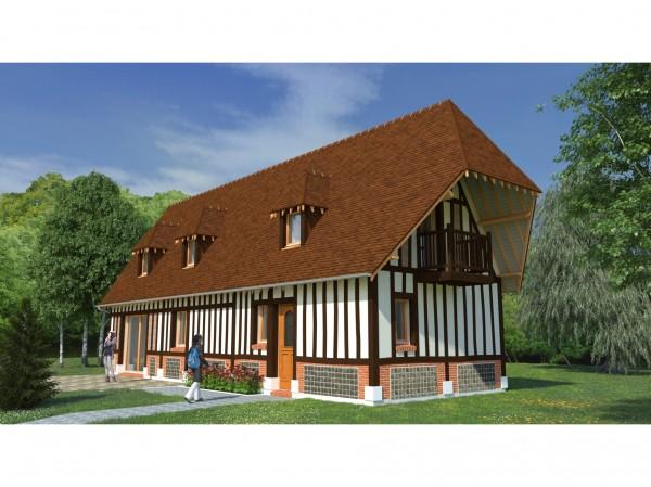 Projet de maison à colombages (pan de bois) - 110 m²