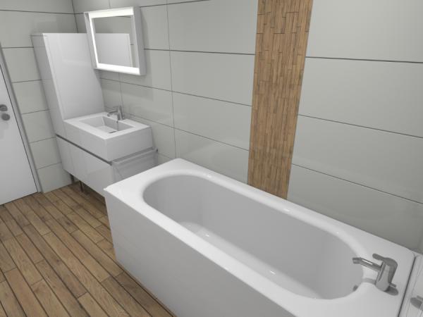 Perspective d'intérieur d'une salle de bains