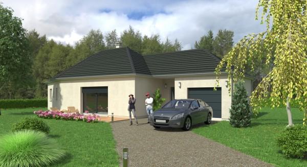 Perspective pour le compte de Maisons Coudrelle (http://www.maisons-coudrelle.fr)