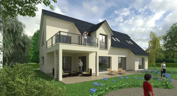 Projet de construction d'une habitation de 190 m² pour le compte de Mathieu Belloncle (http://mathieubelloncle.fr/)