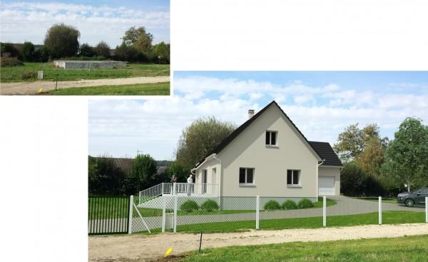 Insertion dans le paysage - création d'une maison de 153 m² habitables sur vide sanitaire existant.