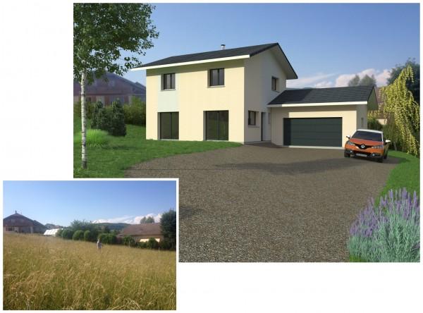 Insertion paysagère réalisée pour Maisons et Chalets des Alpes (http://www.mcalpes.com/)