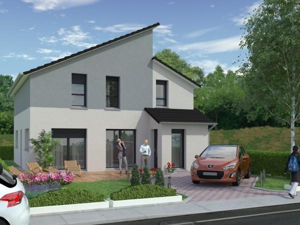 Projet de construction d'une maison contemporaine, 140 m² habitables, 5 chambres