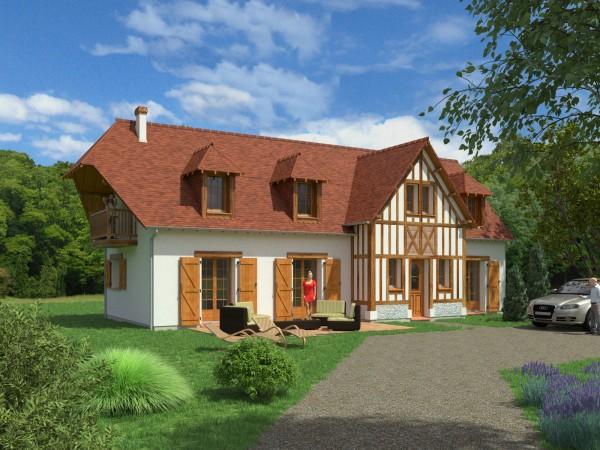 Perspective du modèle Touques de Maisons Coudrelle (www.maisons-coudrelle.fr)
