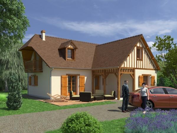 Perspective d'un sixième modèle pour Maisons Coudrelle (http://www.maisons-coudrelle.fr/).